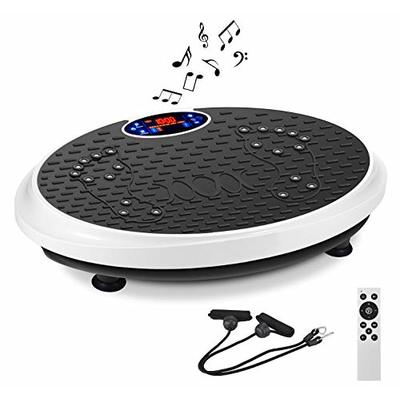 IDEER 3D Vibration Platform Exercise Machine,Dual Motors Oscillation 3D Motion Vibration Plates Exercise Machine,Whole Full Body Fit Massage Vibration Plate for Home Fitness& Weight Loss. (White09007)