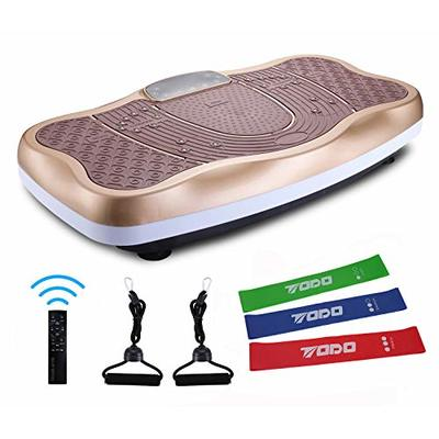 TODO Vibration Platform Power Plate Wholebody Vibrating Massager- Remote Control/Bluetooth Music/USB Connection/Adjustable Speed (Gold)