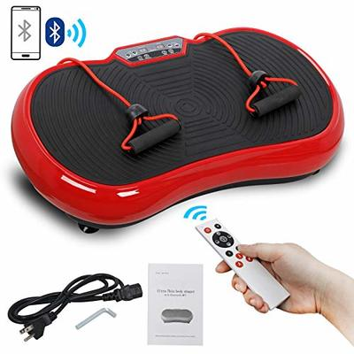 Saturnpower Full Body Vibration Platform Massage Machine Fitness Shaking Machine Workout Whole Body Trainer Vibration Weight Loss Equipment Vibration Fat Reducer with Bluetooth Connection (red)
