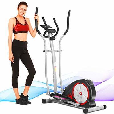 ANCHEER Elliptical Machine for Home Use?Magnetic Elliptical Exercise Machine 300 lbs,Best Elliptical Trainer for Small Spaces, no Need Power Cord, Adjustable Resistance (Black)