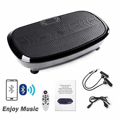 Dual Motor 3D Vibration Plate Exercise Machine – Horizontal,Oscillation + 3D Motion,Upgraded Vibration Platform Machines with Bluetooth Speakers for Whole Body Workout Exercise Toning Weight Loss
