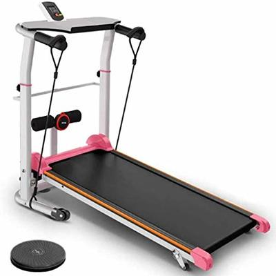 Solovely Multifunctional Treadmill Foldable Electric Running Machine High Power Treadmills Two Wheeled Mechanical Walking Cardio Workout Fitness for Office Home Gym (Shiped from USA, 5-7 Days)