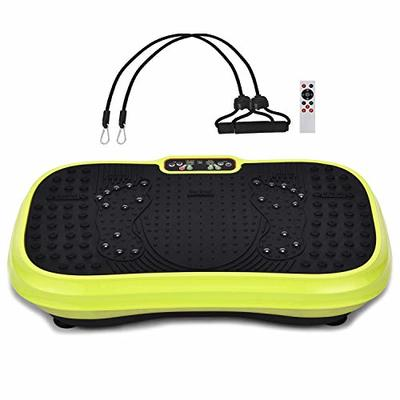 MUCHOO Vibration Plate Exercise Machine 3D Whole Body Workout Platform w/Loop Bands Home Fitness for Weight Loss & Body Slimmer