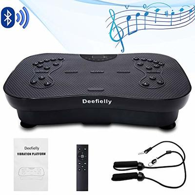 Deefielly Mini Vibration Plate for Adult Weight Loss (Black)