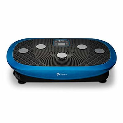 Rumblex Plus 4D Vibration Plate Exercise Machine – Triple Motor Oscillation, Linear, Pulsation + 3D/4D Motion Vibration Platform | Whole Body Viberation Machine for Weight Loss & Shaping. (Blue)