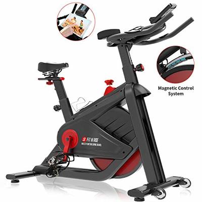 SNODE Magnetic Indoor Cycling Bike – Stationary Pro Belt Drive Spin Bike, Exercise Bike with Ultra-Wide Flywheel, Indoor Home Cardio Workout Exercise(Model: 8722 FIR 2019)