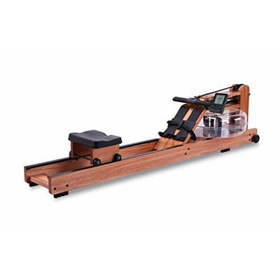 BATTIFE Water Rowing Machine Red Walnut Wood with Bluetooth Monitor for Home Gyms Fitness Indoor Use