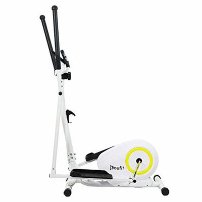 Doufit Elliptical Machine for Home Use, EM-01 Portable Elliptical Trainer for Home Gym Aerobic Exercise, Cardio Fitness Equipment with LCD Monitor and Adjustable Magnetic Resistance