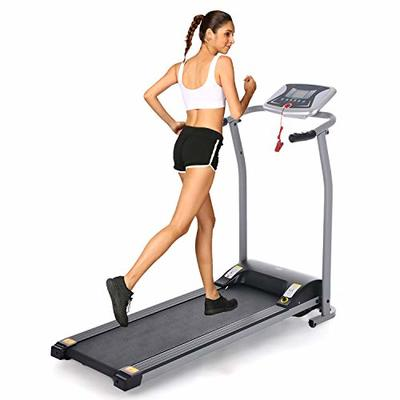 OppsDecor Folding Electric Treadmill for Home Running Machine Fitness Exercise Machine Power Motorized with Pulse Grip and Safety Key (Gray)