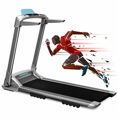 WEKEEP OVICX Q2S Folding Portable Treadmill Manual Compact Walking Running Machine for Home Gym Workout Electric Desk Treadmills with LED Display Device Holder Treadmills for Small Spaces