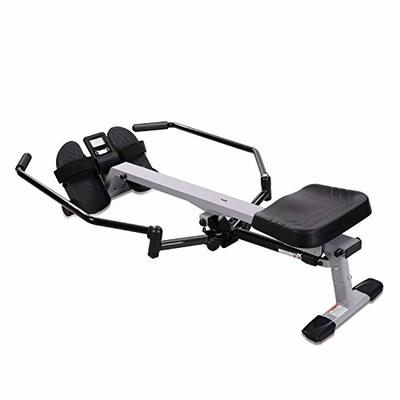 MARNUR Rowing Machine Indoor Rower with 286 lbs Weight Capacity/12 Level Hydraulic Resistance/LCD Monitor for Cardio Exercise Workout Home Use