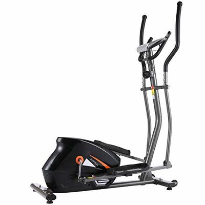 ANCHEER Elliptical Machine Cross Trainer, EM530 Cardio Fitness Equipment for Home Gym Use with 10 Level Magnetic Resistance, LCD Monitor, 390 LBs Max Weight (Gray)