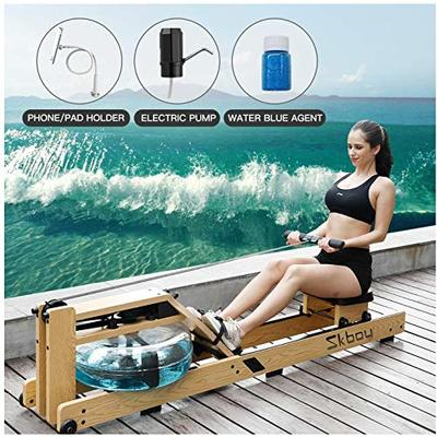 ER KANG Rowing Machine, Belt Drive Rower Exercise Equipment with LCD Monitor, Include Phone/Pad Holder, and Electric Water Pump, Full-Body Exercise for Home Use