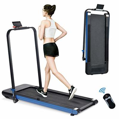 Bifanuo 2 in 1 Folding Treadmill, 2.25 HP Smart Walking Running Machine with Bluetooth Audio Speakers, Installation-Free?Under Desk Treadmill for Home/Office Gym Cardio Fitness (Blue)