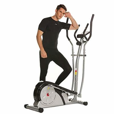 ANCHEER Elliptical Machine, Quiet & Smooth, Magnetic Elliptical Cross Trainer Machine with LCD Monitor and Pulse Rate Grips, Best Exercise Machine Trainer for Home Gym Office Workout