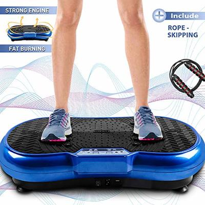 Bigzzia Vibration Platform with Rope Skipping, Whole Body Workout Vibration Fitness Platform Massage Machine for Home Training and Shaping, 99 Levels
