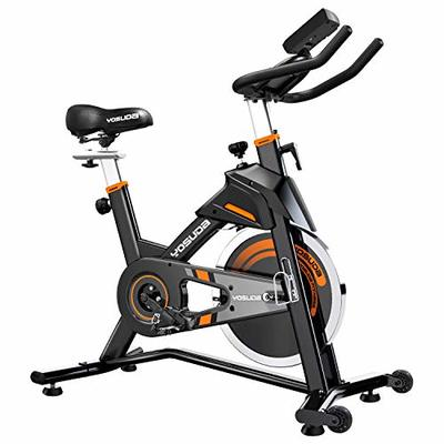 YOSUDA Indoor Cycling Bike Stationary – Exercise Bike for Home Gym with Comfortable Seat Cushion, Silent Belt Drive, iPad Holder
