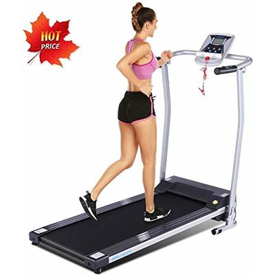 ANCHEER Treadmill, Electric Treadmills for Home with LCD Monitor Walking Running Machine Equipment for Home Gym (Sliver)
