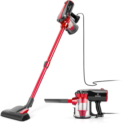 MOOSOO Vacuum Cleaner, 17KPa Strong Suction 4 in 1 Corded Stick Vacuum for Hard