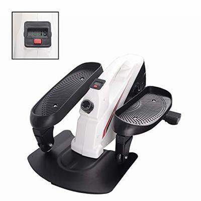 PROHIKER Under Desk Elliptical Bike?Trainer Machine?Mini Elliptical Machine with Non-Slip Pedal, Display Monitor and Adjustable Resistance?Mini Desk Cycle Resistance Exercise Quiet & Compact (White)