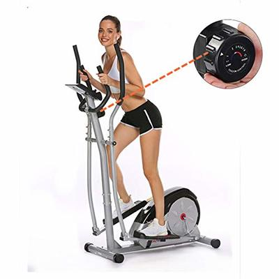 Fast88 Portable Elliptical Machine Fitness Workout Cardio Training Machine, Magnetic Control Mute Elliptical Trainer with LCD Monitor, Elliptical Machine Trainer (Grey, 41.73 x 23.2 x 11.6 inch)