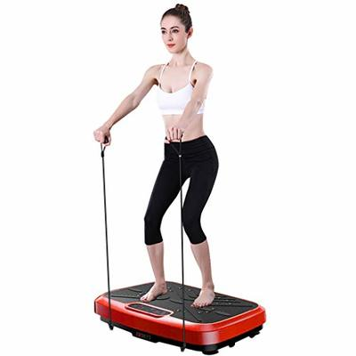 Whole Body Workout Vibration Plate Exercise Machine Fitness Platform, Home Training Equipment Weight Loss,Improve Fitness and Flexibility,Perfect Home Fitness,Easy-to-Use Display &Remote Control