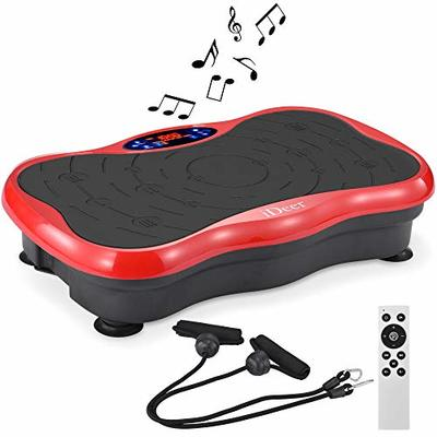 IDEER LIFE Vibration Platform Exercise Machines, Whole Body Workout Fitness Vibration Platform Machine w/Remote/Loop Bands and Music Speaker.Max Load 300lbs.