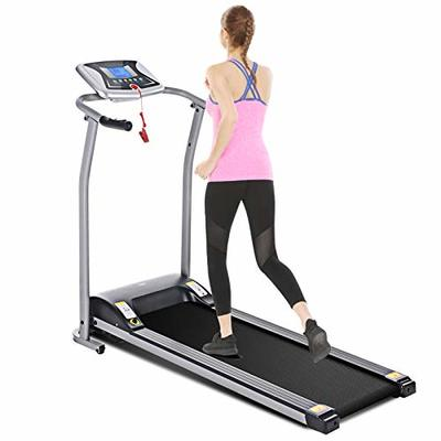 Mauccau Folding Treadmill Electric Motorized Running Machine Portable Treadmill for Home Small Spaces Office Gym Walking Jogging Exercise Fitness Low Noise (Gray)
