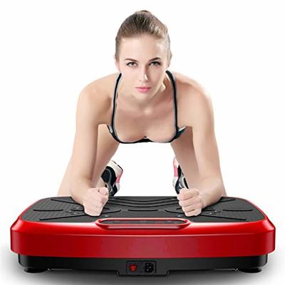 Xinqinghao Vibration Plate Exercise Machine – Whole Body Workout Vibration Platform w/Loop Resistance Bands – Home Gym Office FitnessTraining Slimmer Equipment for Weight Loss & Toning Shaping
