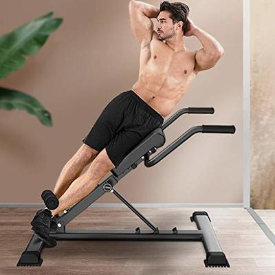 Bench Roman Chair Back Hyperextension, Utility Bench for Full Body Workout Hyper Back Extension Roman Chair Ab Sit up Decline Flat Bench Abdominal Muscles Fitness Equipment (US Direct, Black)
