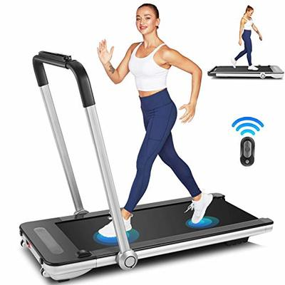 Under Desk Treadmill for Home, 2.25HP Electric Folding Treadmill with Bluetooth Speaker Remote Control & 12 Preset Modes, Walking Jogging Running Exercise Machine for Home Gym,Installation-Free