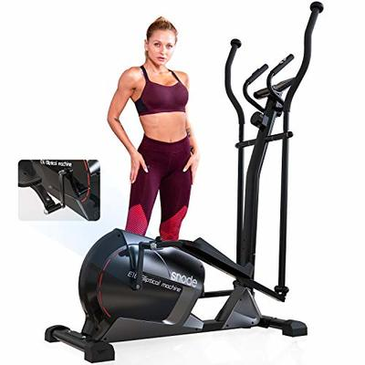 SNODE Magnetic Elliptical Machine – Heavy Duty Exercise Equipment for Home Use Cardio Training Workout, Sturdy Training Trainer with LCD Digital Display, Programmable Monitor, Smooth and Quiet Driven…