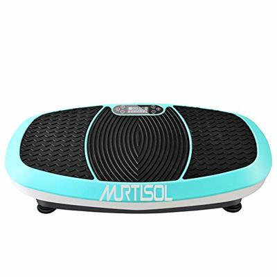Murtisol 3D Vibration Plate Exercise Machine Whole Body Workout Platform for Massage&Fitness, Dual Motor, W/Bluetooth, Resistance Bands & Remote Control, 5 Preset Programs, 330lbs Weight Capacity