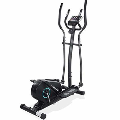 MaxKareElliptical Machine for Home Use Portable Magnetic Trainer Compact Quiet Smooth with Adjustable Flywheel Resistance LCD Monitor Extra Pedal Heavy Duty