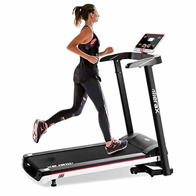 Merax Electric Folding Treadmill Low Noise Power Motorized Running Machine 12 KM/H Max Speed Easy Assembly Treadmill for Running & Walking Jogging