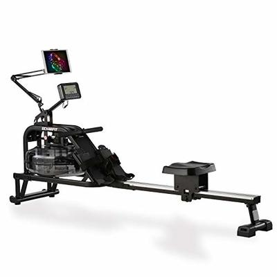 ECHANFIT Water Rowing Machine Water Rower with Water Resistance & Large LCD Monitor Phone/Ipad Holder for Home Use