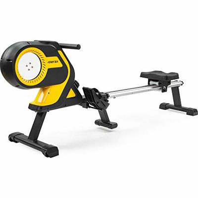 Merax Magnetic Folding Rowing Machine Indoor Rower Machine with 46 Inch Slide Rail, Max 330LB for Home Cardio
