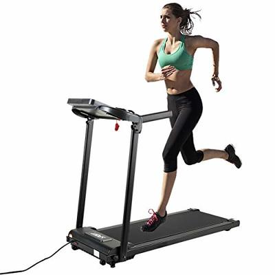 JAXPETY Electric Folding Treadmill 2.0HP Fitness Motorized Running Jogging Machine for Home/Office Use with LCD Display, 12 Preset Programs (Black)
