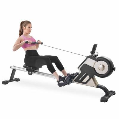 Merax Magnetic Rower Home Rowing Machine with LED Monitor and 8-Level Resistance Adjustment Fitness Compact Rowing Machine for Home Gym Use for Home Gym