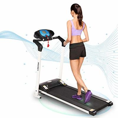 UMAY Folding Electric Treadmill for Home/Office, Portable Running Machine for Small Space with Device Holder, Easy Assembly Motorized Treadmills for Running