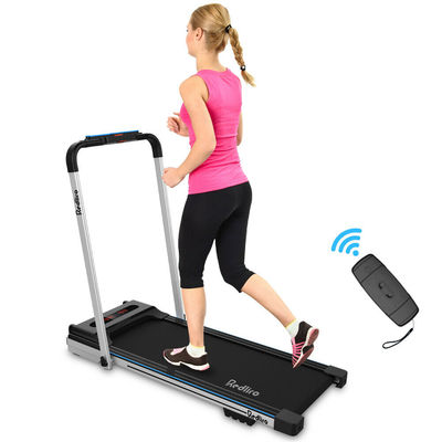 2 in 1 Foldable Electric Motorized Treadmill Space Saving Running Jogging Gym