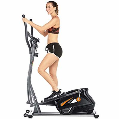 FUNMILY Eliptical Exercise Machine for Home Use?Magnetic Elliptical Cross Trainer Machines, Heavy-Duty Equipment for Indoor Workout & Fitness with 10-Level Resistance&Max User Weight:300lbs. (Gray)