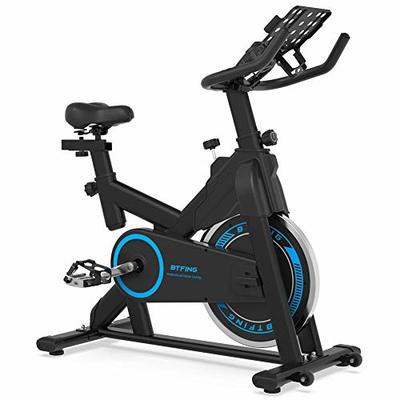 BTFING Indoor Exercise Spinning Bike Stationary, Cycle Spin Bike with 35lbs Flywheel Phone Holder & 3.6″ LCD Monitor for Home Gym & Workout Equipment