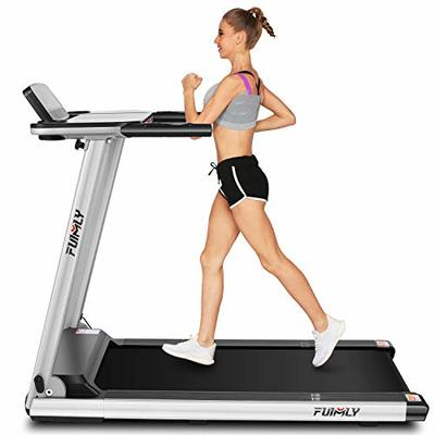 FUNMILY Folding Electric Treadmill,12 preset Programs, Heavy Duty Steel Frame Treadmills with Large Desk,Best 2.25HP Exercise Jogging Walking Running Machine for Home Gym Office Workout