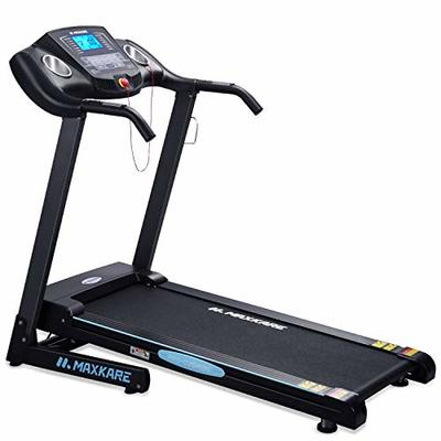 MaxKare Electric Folding Treadmill Auto Incline Running Machine 2.5HP Power 8.5MHP Speed 12-Level Incline Adjustment with Pre-Set Training Programs Large LCD Display Cup Holder for Home Use