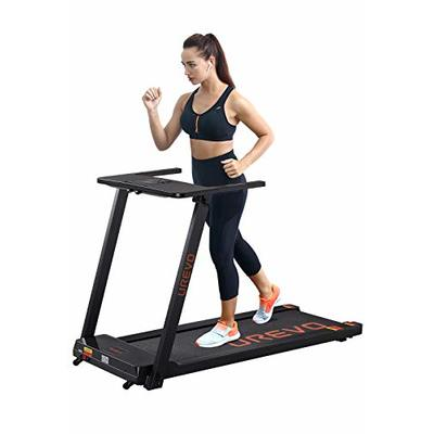 UREVO Foldable Treadmills for Home,Under Desk Electric Treadmill Workout Running Machine,2.5HP Portable Compact Treadmill with 12 Pre-Set Programs and 16.5 Inch Wide Tread Belt