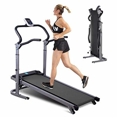 MODAO Electric Treadmill?Mechanical Treadmill, Folding Shock Running, Supine, T-wisting, LCD and Pulse Monitor,Auto Incline,330 LB Max Weight, Speakers and Body Fat Function