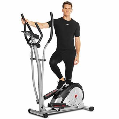 ANCHEER Elliptical Machine, Elliptical Machine for Home Use with Pulse Rate Grips and LCD Monitor, Magnetic Smooth Quiet Driven