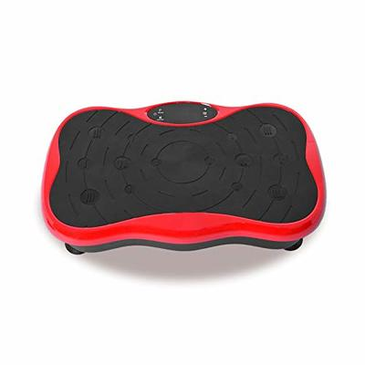 KTA Vibration Platform Exercise Machine, Whole Body Vibration Fitness Plate with Remote Control and Resistance Bands for Weight Loss Toning