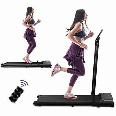 Under Desk Electric Treadmill, 2 in 1 Folding Treadmill for Home, 2.25HP Walking Running Machine, Remote Control and LED Display, Portable Treadmill for Home/Office Cardio Fitness